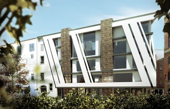 Except integrated sustainability rome apartment building new architecture in the heart of - The modern apartment in the old school ...