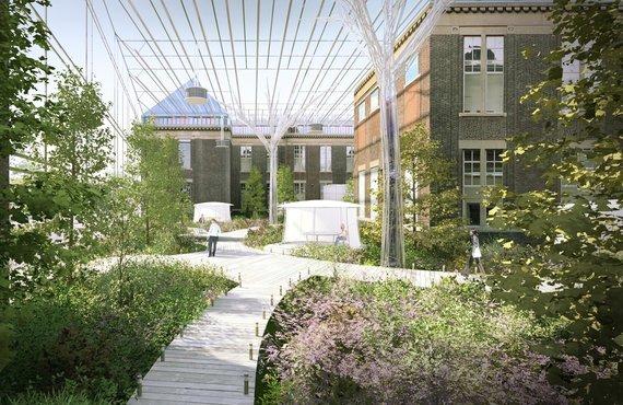 Embedded ecosystems inside university buildings