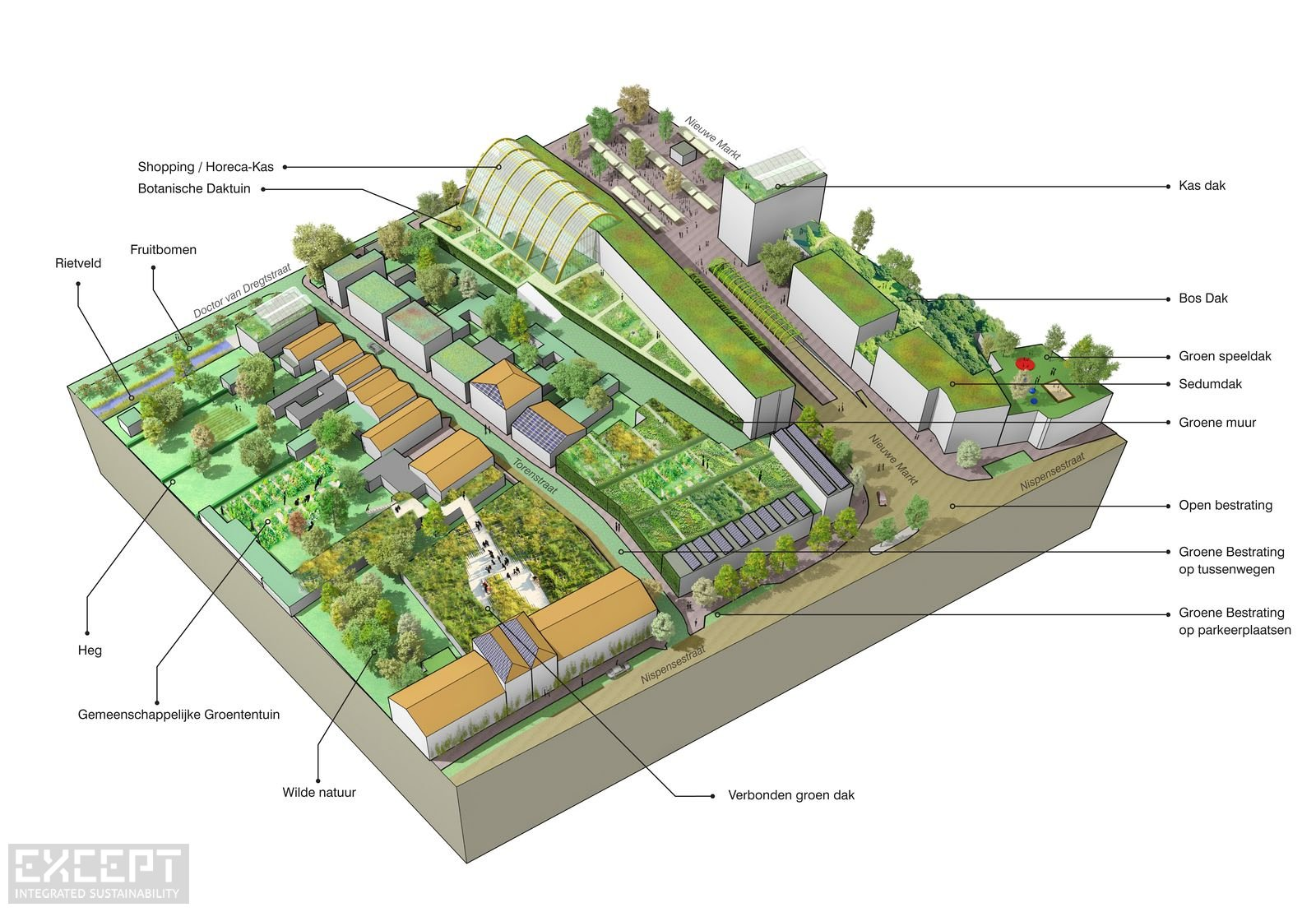 Urban diagram - Urban isometric diagram