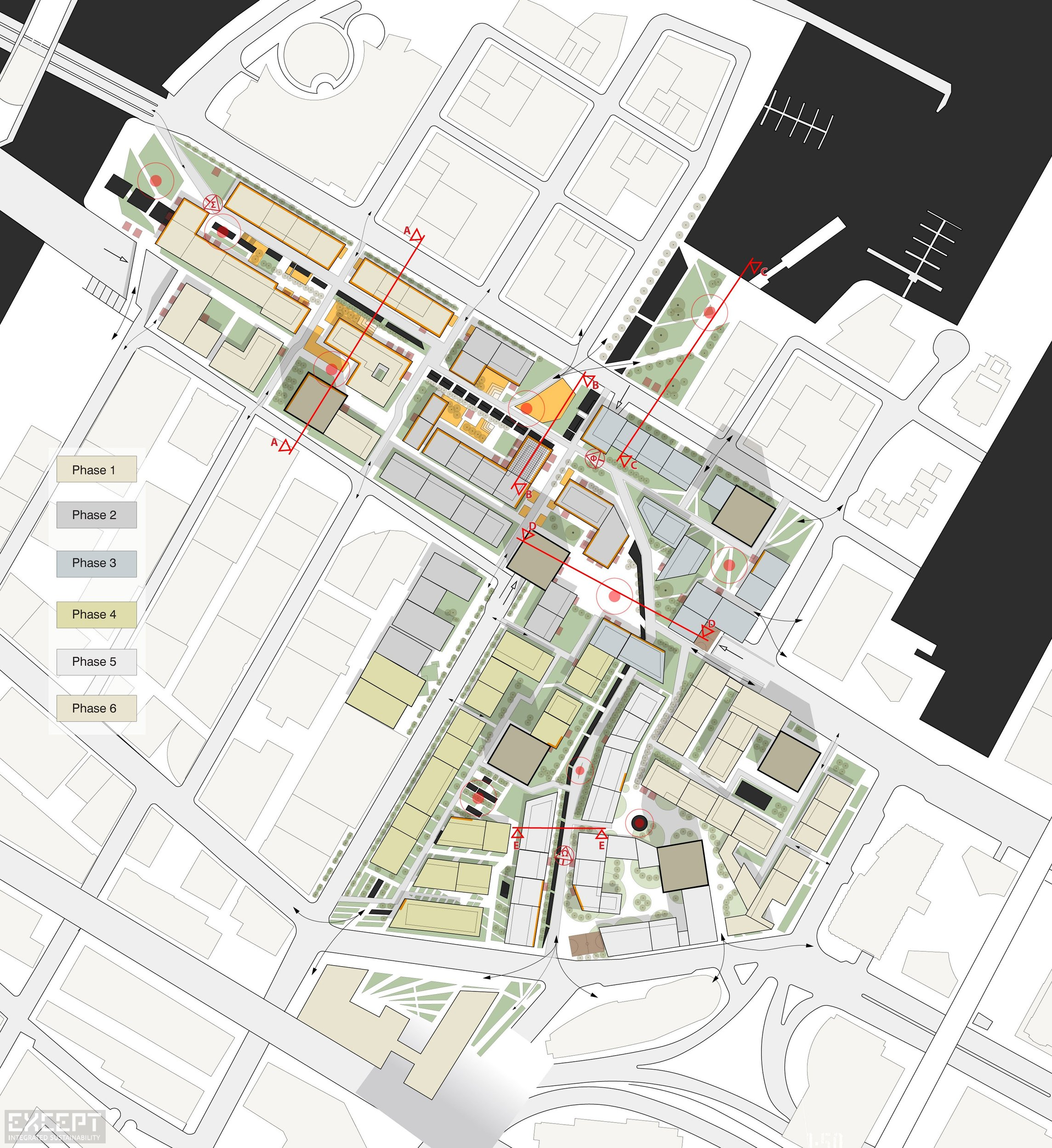 Site Plan - The site plan of the urban design