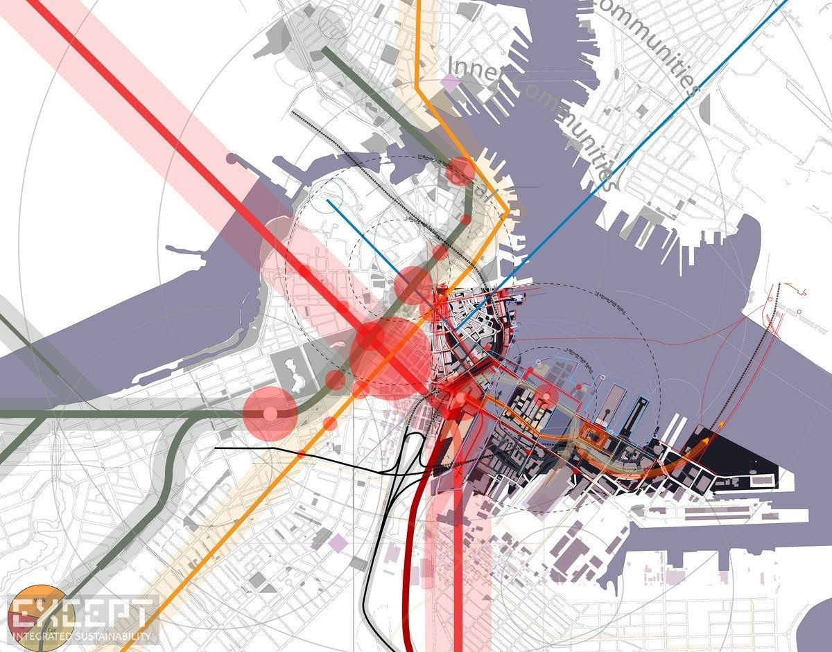 Boston Traffic density diagram - Diagram showing the traffic density in Boston