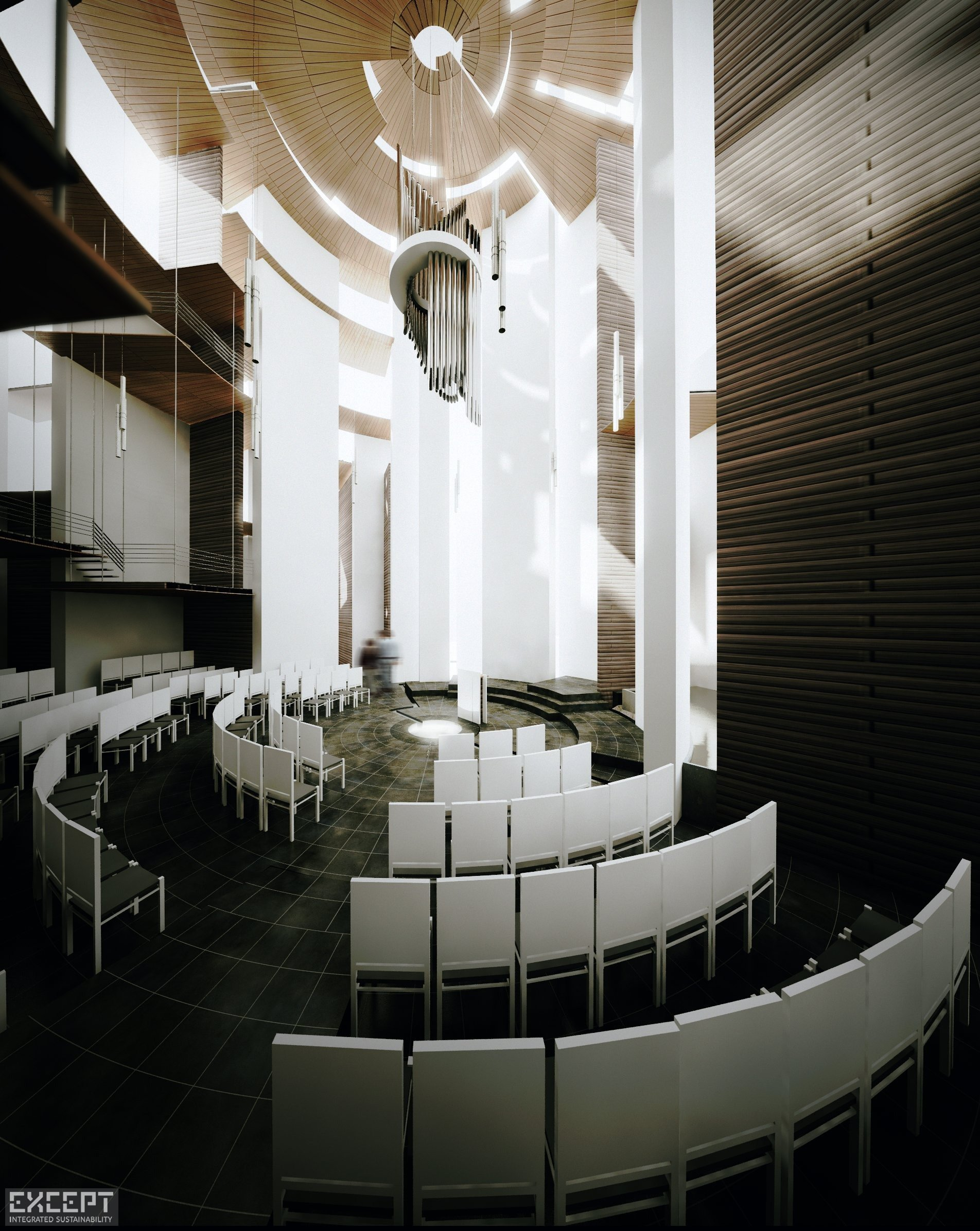 Toronto Chapel - Visualization of interior of a chapel
