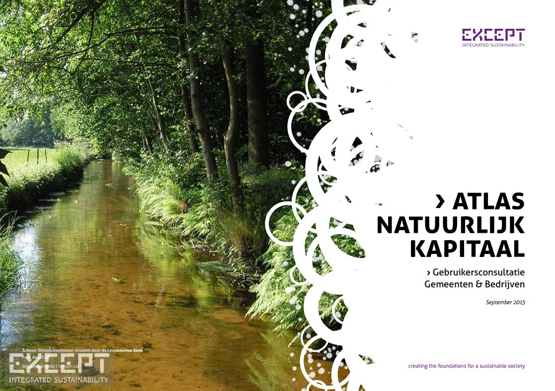 Except integrated sustainability atlas natural capital for Atlas natura