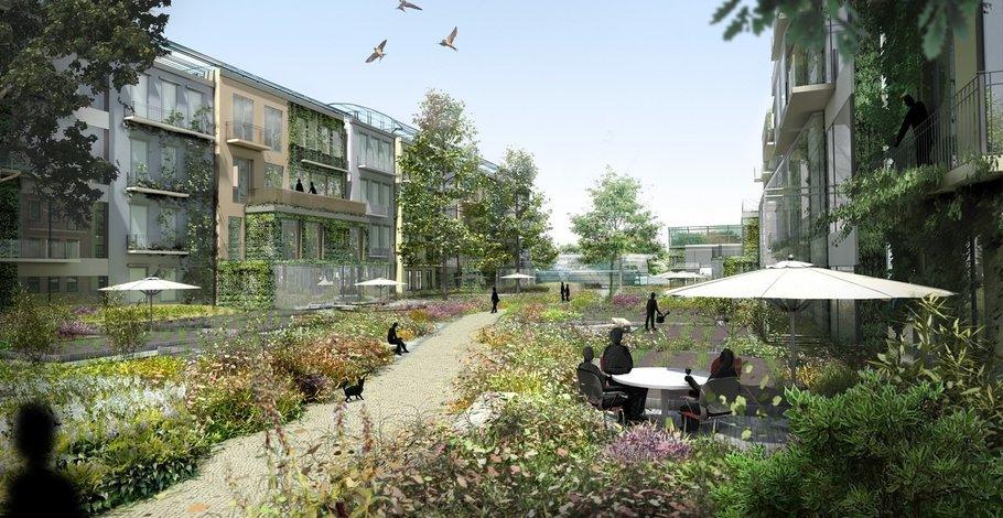 The garden courtyards