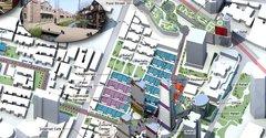 Urban master plan isometric diagram