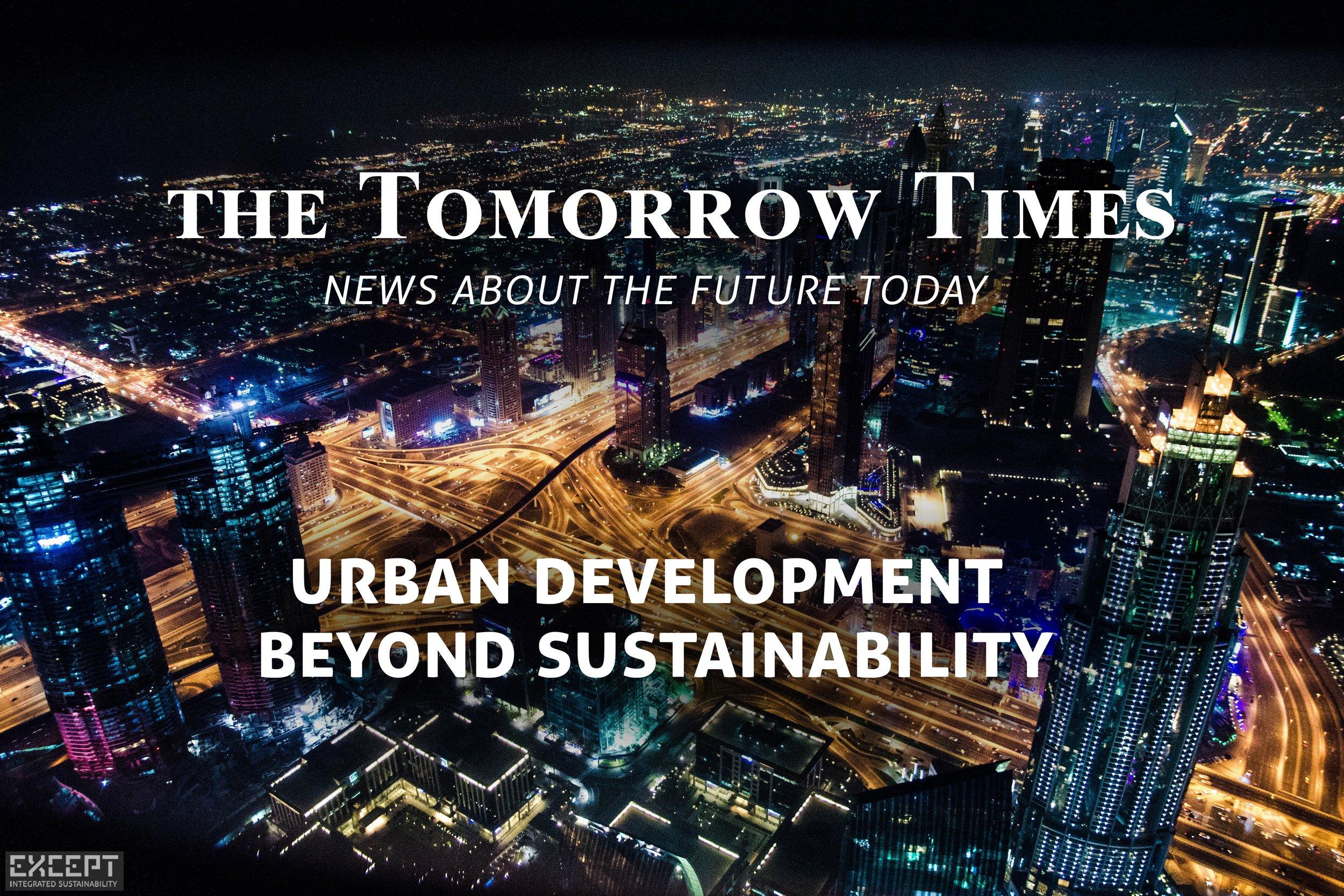 'The Tomorrow Times' - Jan '19: Urban Development - ASSET IMAGE -