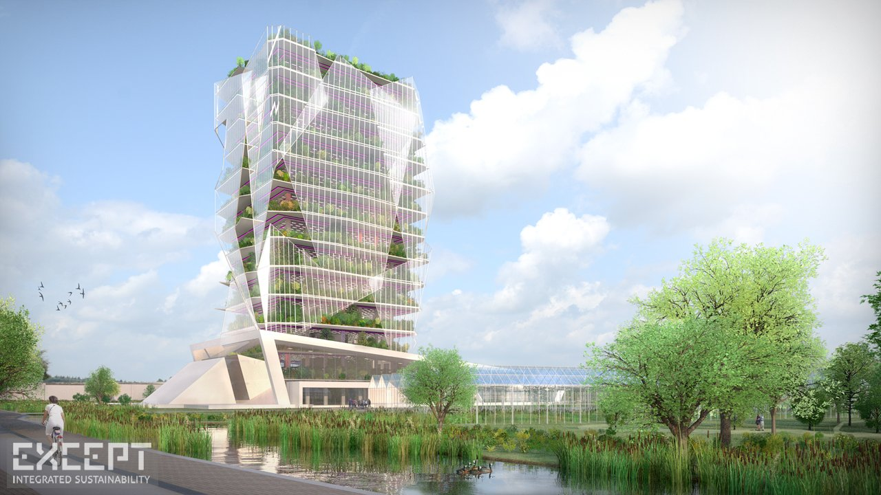 Except integrated sustainability hortus celestia for Farmhouse tower