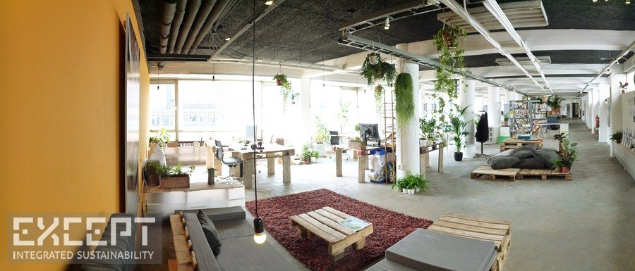 sustainable office building. Green Workspaces Inspiring Environment · Office Space For Contemplation Sustainable Building