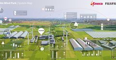 System Map Fujifilm wind Park