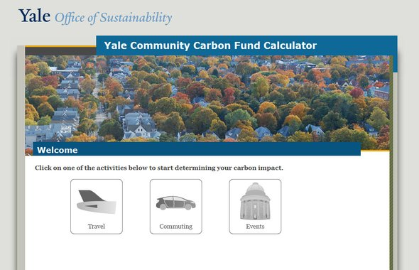 Yale Carbon Calculator